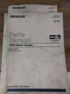 Caterpillar 160h Motor Grader Parts Manual Vol I Ii