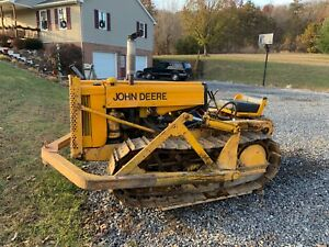 Vintage 1956 John Deere 420c Dozer With 7 Blade And Winch