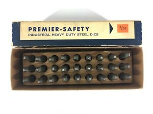 Premier Safety Steel Dies Letter Stamps 3 32 Machinist Tools Tool