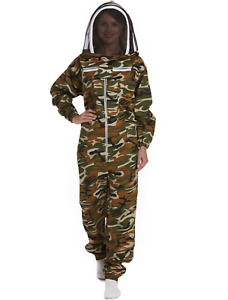 New Natural Apiary Maximum Protection 100 Cotton Beekeeping Suit Camouflage Med