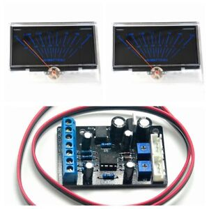 2pcs P 134 Audio Power Amplifier Vu Panel Meter W 1pc Power Supply Driver Board
