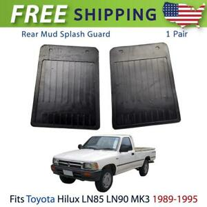 Rear Mud Flaps Splash Mudguard Rubber Fit For Toyota Hilux Ln85 Mk3 Ute 1989 95
