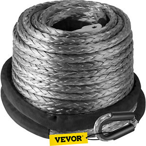 3 8 X 95 Synthetic Winch Line Cable Rope 20500lbs Hook Hawse Fairlead Atv Suv