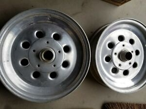 Weld 15 X 3 1 2 Anglia Spindle Mount Wheels Racing Drag Dragster Gasser