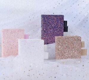 A6 Glitter Daily Weekly Planner 2019 Sequins Gold Pink Purple White Notebook