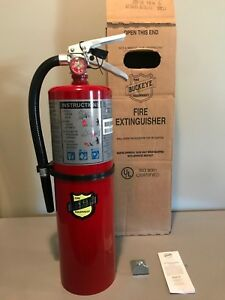 Brand New 10lb Buckeye Fire Extinguisher Abc Dry Chemical 4a80bc 2019