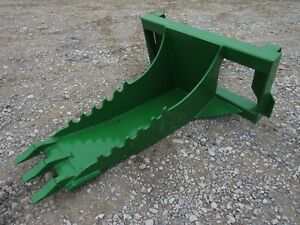 John Deere Tractor Loader Stump Bucket Dig Ditch Spade Attachment Ship 199