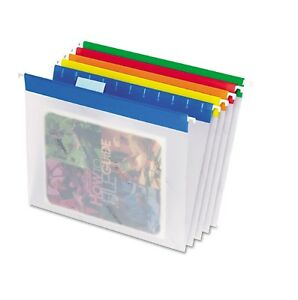 Pendaflex Easyview Poly Hanging File Folders Assorted Colors Letter 25 Ct