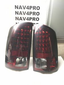 02 2003 04 2005 06 Dodge Ram 1500 2500 3500 Red Smoked Led Tail Light Pair T416