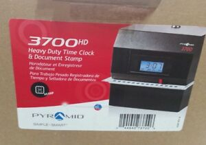 Pyramid 3700hd Heavy Duty Steel Time Clock And Document Stamp Ch5 22