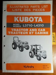 Kubota L3710 L4310 Tractor Cab Illustrated Parts List Manual 97898 22010 7 98