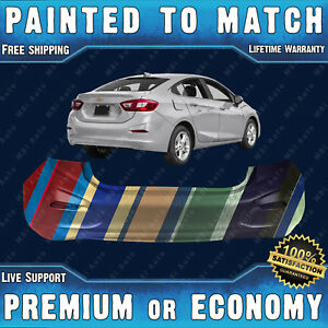 New Painted To Match Rear Bumper Replacement For 2016 2018 Chevy Cruze Sedan 4dr
