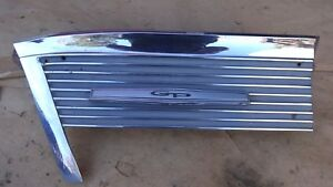 1966 Pontiac Grand Prix Left Front Fender Lower Trim Molding Original Gp Emblem