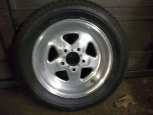 Chevy Gm 15x3 5 Weld Racing Pro Star Drag Wheel And Tire 5x4 75 Bc 1 375 Bs