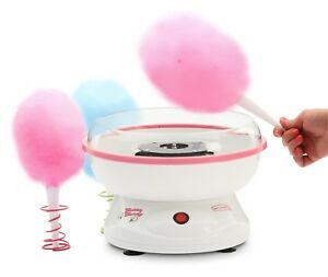 Cotton Candy Machine Maker Electric Floss Disposable Cones Measuring Scoop Pink