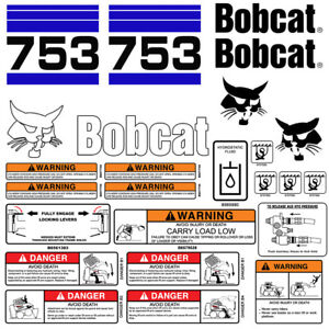 Bobcat 753 V2 Skid Steer Set Vinyl Decal Sticker Bob Cat Usa 25 Pc Set