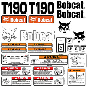 Bobcat T190 Turbo Skid Steer Set Vinyl Decal Sticker Made In Usa 25 Pc Set