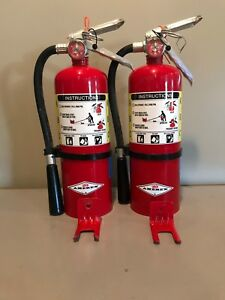 2 5lb Abc Fire Extinguisher W Wall Hanger do Not Meet Code Requirements