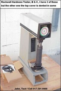 Wilson Rockwell Instron C504t Hardness Tester Rockwell B C Superficial Scale
