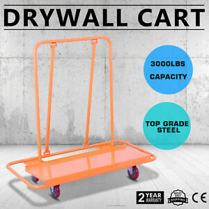 Drywall Cart Dolly Handling Sheetrock Panel 3000lb Metal Durable Plywood Hauling