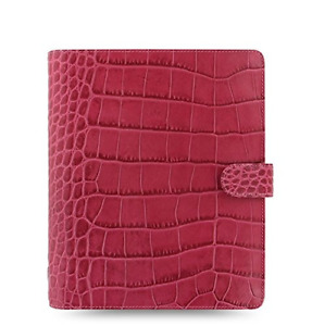 Filofax Classic Croc Print Leather Weekly Daily Planner Organizer Agenda With