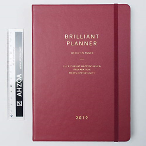 Brilliant Dated Weekly Planner With Ahzoa Mini Ruler Date Is Printed Diary X