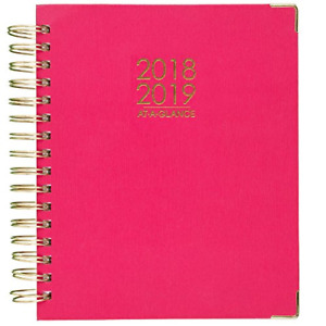 At a glance 2018 2019 Academic Year Daily Monthly Planner Large 8 7 8 X Pink