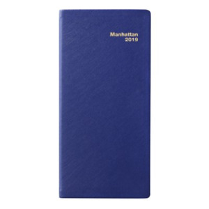 2019 Manhattan Pocket Diary Simulated Leather Blue