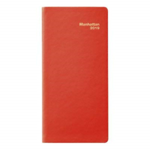 2019 Manhattan Pocket Diary Simulated Leather Red
