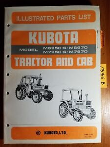 Kubota M6950 s M6970 M7950 s M7970 Tractor Cab Illustrated Parts List Manual