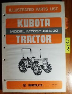 Kubota M7030 M8030 Tractor Illustrated Parts List Manual 07909 55570 11 85