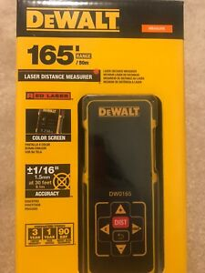 Dewalt 165 Ft Laser Distance Measurer With Color Screen