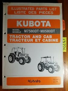 Kubota M7580dt M8580dt Tractor Cab Illustrated Parts List Manual 97898 21403