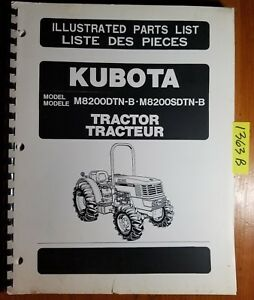 Kubota M8200dtn b M8200sdtn b Tractor Illustrated Parts List Manual 97898 22161