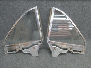 1964 1965 Ford Falcon Comet Convertible Quarter Window Frames And Glass Pair