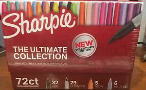 Sharpie Ultimate Collection Pack Ultra Fine Point Assorted 72 Markers Box New