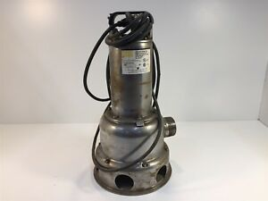 Dayton 4ny22 Stainless Steel Submersible Sewage Pump 1 2hp 230v 6 0a