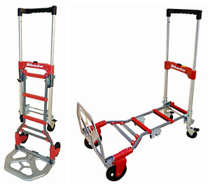 Collapsible Dolly Appliance Small Hand Truck Mini Cart 2 wheel To 4 wheel Rubber