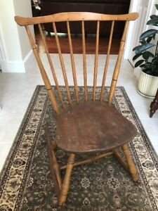 Antique Spindle Back Sewing Nursing Rocker