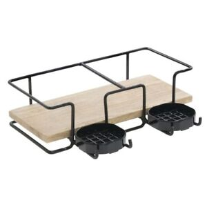 Airpot Holder For 2 Thermal Airpot Coffee Dispensers Mango Wood 14 1 2 W X 11
