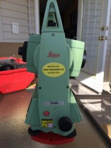 Leica Tc403 Total Station Dual Face For Surveying With New Batteries And Charger