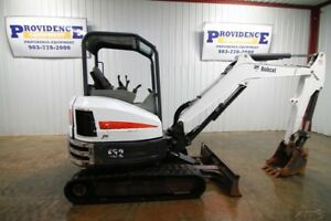 2016 Bobcat E32 Compact Track Excavator Front Aux Hyd 16 Bucket