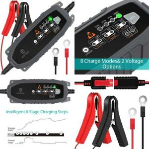 Automatic Battery Charger Maintainer Motorcycle Car Marine Trickle Tender 12v 6v