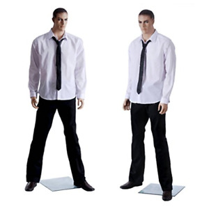 Realistic Standing Male Adult Mannequin Base