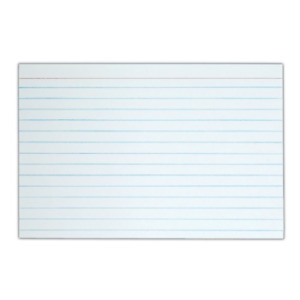 Tops Index Cards 4 X 6 inches White 90 Lb Narrow Ruled 100 Cards pack Box