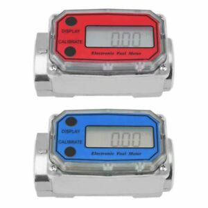 Digital Turbine Fuel Flow Meter Lcd Diesel Chemicals Flowmeter Water 120l Liquid