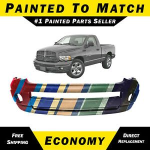New Painted To Match Front Bumper Cover For 2002 2005 Dodge Ram 1500 2500 3500