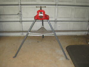 Ridgid 40a Tristand 1 8 To 2 1 2 Pipe Vise Yoke Clamp Tripod Enamel Painted
