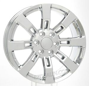 Gmc 20 Chrome Wheels Rims For 2000 2018 Sierra Yukon Denali Set Of Four
