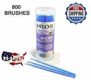 800 Micro Applicator Microapplicators Microbrush Dental Medium Blue Ehros